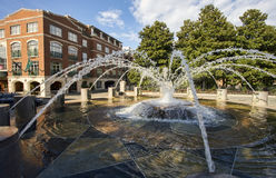 Fontaine de parc de bord de mer, Charleston Images stock