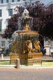 Fontaine de place d'hôtel de ville de Leicester Photos stock