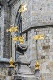 Fontaine de puits de Pilory à Mons, Belgique. image stock