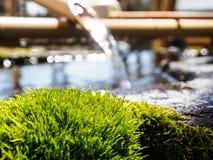 Fontaine de purification dans le tombeau japonais photo libre de droits