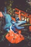 Fontaine de purification de Fox chez Fushimi Inari Taisha, Kyoto, Japon images stock