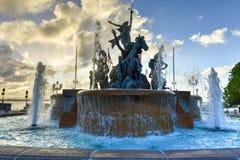 Fontaine de Raices à vieux San Juan images libres de droits