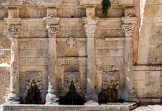 Fontaine de Rimondi dans Rtehymno, île de Crète, Grèce Photo libre de droits