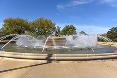 Fontaine de sapeurs-pompiers à Kansas City Missouri images libres de droits