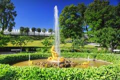 Fontaine de serre chaude de fontaine dans Pertergof, Sain Image stock