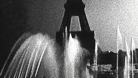 Fontaine de Tour Eiffel banque de vidéos