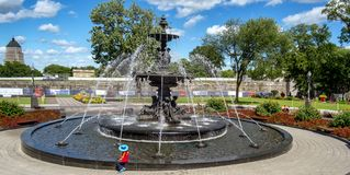The Tourny fountain in Quebec City stock photo