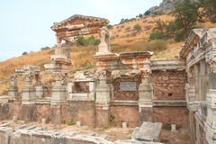 Fontaine de Trajan dans Ephesus, Turquie Photo libre de droits