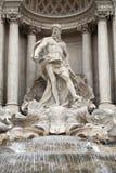 Fontaine de TREVI, statue d'Oceanus Photographie stock libre de droits