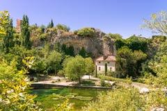 Fontaine de Vaucluse Lizenzfreie Stockfotos