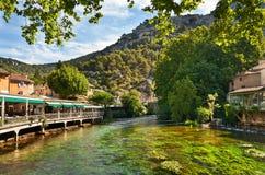Fontaine De Vaucluse, Frankreich Lizenzfreies Stockfoto