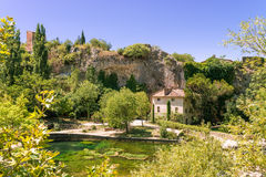 Fontaine-de-Vaucluse Royalty Free Stock Photos