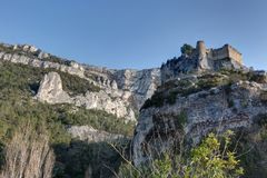 `Fontaine de Vaucluse` - Provence - France. View of `Fontaine de Vaucluse` - Vaucluse - Provence - France stock photography