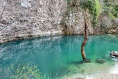 `-Fontaine de Vaucluse ` - Provence - Frankrike Royaltyfri Fotografi