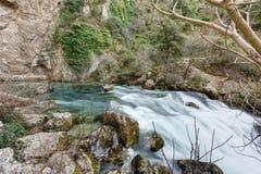 `-Fontaine de Vaucluse ` - Provence - Frankrike Arkivfoton