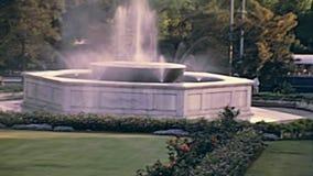 Fontaine de ville d'Athènes banque de vidéos