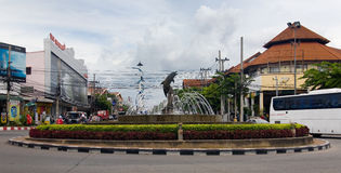 Fontaine de ville Pattaya thailand Photos stock