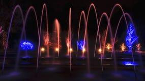 Fontaine de voûte à Noël image libre de droits