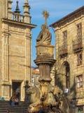 Fontaine des chevaux - Santiago de Compostela photo stock
