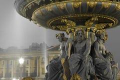 Fontaine des Fleuves, Concorde square, Paris. Ile de France, France royalty free stock photo