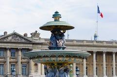 Fontaine des Fleuves, Parijs Stock Afbeelding