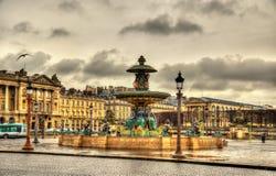 Fontaine des Fleuves on the Place de la Concorde Royalty Free Stock Photos
