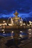 Fontaine des Fleuves on Place de la Concorde in Paris Stock Images