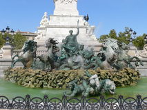 Fontaine des Girondins, Bordeaux (France) Stock Image