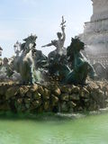 Fontaine des Girondins, Bordeaux (France) Royalty Free Stock Photos