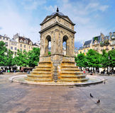 Fontaine des Innocents, Parijs Stock Foto