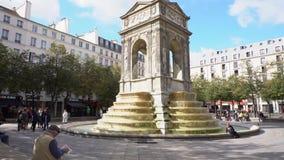 Fontaine des Innocents, Paris stock video