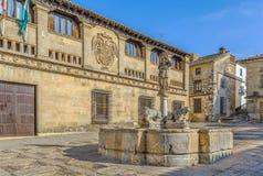 Fontaine des lions, Baeza photographie stock libre de droits