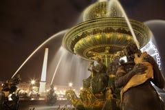 Fontaine DES Mers bei Place de la Concorde Stockbilder