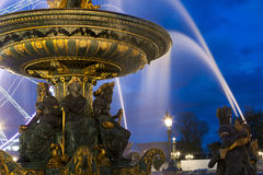 Fontaine des Mers, Concorde square, Paris Royalty Free Stock Photography