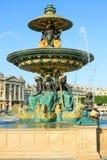 Fontaine des Mers, Paris, Frankrike Arkivfoton