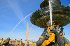 Fontaine des Mers in Place DE La Concorde in Parijs Royalty-vrije Stock Foto's