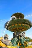 Fontaine des Mers in Place DE La Concorde in Parijs Royalty-vrije Stock Afbeeldingen
