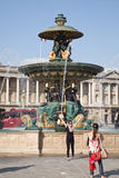 Fontaine des Mers at Place de la Concorde in Paris Royalty Free Stock Photography