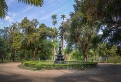 Fontaine des Muses au jardin botanique de Jardim Botanico - Rio de Janeiro, Brésil images libres de droits