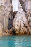 Fontaine des quatre rivières sur Piazza Navona, Rome Photos libres de droits