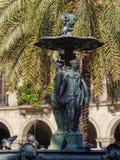 Fontaine des trois grâces - Barcelone photographie stock