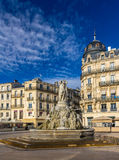 Fontaine des Trois Graces on place de la Comedie in Montpellier Stock Photo