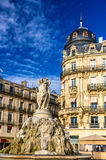 Fontaine des Trois Graces on place de la Comedie in Montpellier. France royalty free stock photography