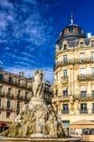 Fontaine des Trois Graces on place de la Comedie in Montpellier Royalty Free Stock Photography