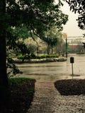 Fontaine du centre d'Aiken Photographie stock libre de droits