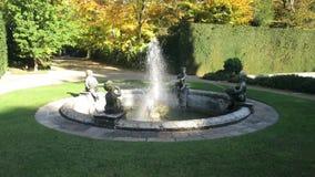 Fontaine du jardin monumental de Valsanzibio Galzignano Terme Padoue clips vidéos