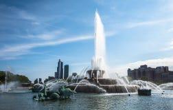 Fontaine du ` s Buckingham de Chicago, parc de millénaire image libre de droits