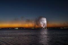 Fontaine du ` s du Roi Fahd, également connue sous le nom de fontaine de Jeddah dans Jeddah, l'Arabie Saoudite image libre de droits