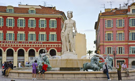 Fontaine du Soleil,尼斯,法国 库存图片