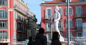 Fontaine Du Soleil Na miejsce Massena W Ładnym Francja zbiory